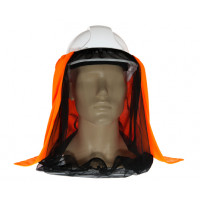 Uveto HI VIS ORANGE Net 'N Shade Head Face Protection Add-on