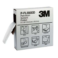 3M (Box of 3) Oil & Petroleum Sorbent Folded (P-FL550DD)