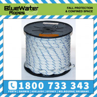 BlueWater Rapline++ 11.2mm x White/Blue (sold per metre)