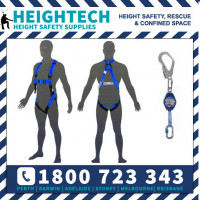 Scaffolders Safety Harness Kit with 2m Retractable Lanyard with 50mm Scaffold Hook