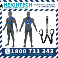 Scaffolders Safety Harness Kit with 1.5m Twin Elasicated Lanyard with 50mm Scaffold Hook