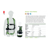 M/L Miller AirCore Harness with Aluminium hardware and side D-rings.
