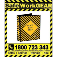 YELLOW SDS Safety Data Sheet Binder Folder also known as MSDS Folder