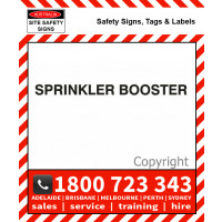 SPRINKLER BOOSTER 25mm / 50mm H Black Vinyl Text