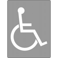 600x450mm - Poly Stencil - Disabled Symbol (ST1202)