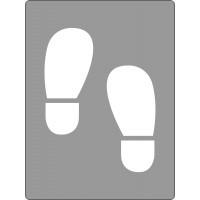 600x450mm - Poly Stencil - Shoe Prints (ST1203)