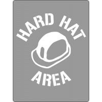 600x450mm - Poly Stencil - Hard Hat Area (ST1206)