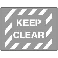 600x450mm - Poly Stencil - Keep Clear (ST1211)