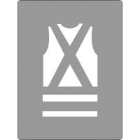 600x450mm - Poly Stencil - Safety Vest Picto (ST1212)