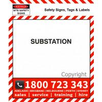 SUBSTATION 25mm / 50mm H Black Vinyl Text