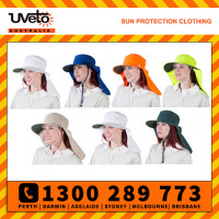 Uveto Tammin Broad Brim Sun Protection Hat with Neck Flap