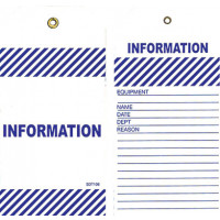 75x160mm - Tear Proof Tags - Pkt of 25 - Blue Information Tags (TDT106TP)