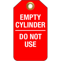 75x160mm - Tear Proof Tags - Pkt of 25 - Empty Cylinder Do Not Use (TDT256TP)