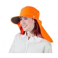 Uveto L-XL HI VIS ORANGE Tammin Broad Brim Sun Hat