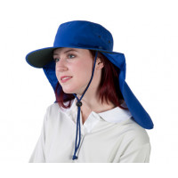 Uveto M-L ROYAL BLUE Tammin Broad Brim Sun Hat