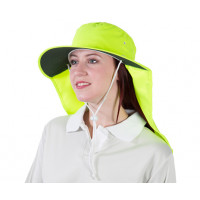 Uveto 2XL HI VIS YELLOW Tammin Broad Brim Sun Hat