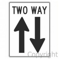 TWO WAY & ARROWS 450x600mm Metal