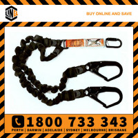 LINQ 2m Shock Absorbing Double Leg Elasticated Lanyard (WLE) Various Configurations