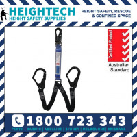1.5m Twin Access Elasticated Lanyard with Double Scaff Hooks
