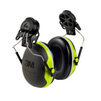 (Case of 10 boxes) 3M Green/Black Helmet Attached Format Earmuffs Class 5 SLC80 27dB (1 pair per box) (XA007707970)