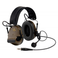 3M Green Folding Headband Format Headset-Stereo Level Dependent, J11 NATO & Goose Neck Mic Class 5 SLC80 27dB (XH001680897)