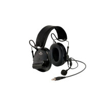 3M Green Folding Headband Format Headset Level Dependent, J11 NATO Connection & Boom Mic Class 5 SLC80 27dB (XH001680913)