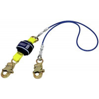3M DBI SALA Force2 Shock Absorbing Lanyards Wire Cable Single Tail PVC Coated 2.0m overall length