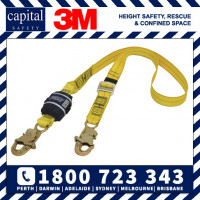 Force2 Adjustable Shock Absorbing Webbing Lanyard - Single Tail 2m