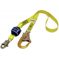 3M DBI SALA Force2 Shock Absorbing Lanyards Webbing Single Tail Adjustable 2.0m overall length