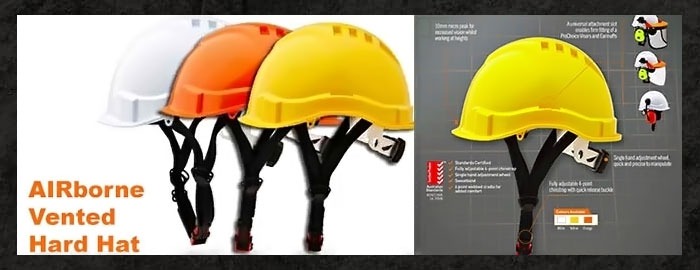 AIRborne Vented Hard Hats