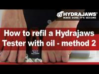 How to refill a Hydrajaws Tester with oil - method 2