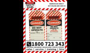 WorkSafe DANGER Do Not Operate Tag Pk 100