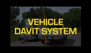 Pelsue Davit System with Vehicle Hitch Mount