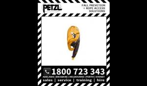 Petzl I'D Self braking descender for rescue with anti panic function